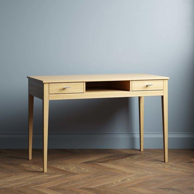 Письменный стол Ustas-1 120х60 с двумя ящиками черного цвета