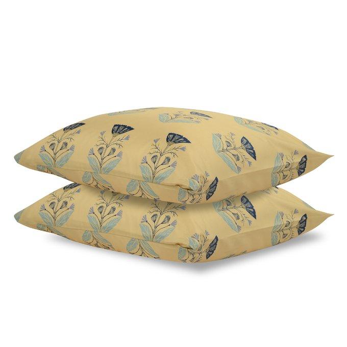 Двусторонний комплект постельного белья из сатина с принтом летний цветок 150х200