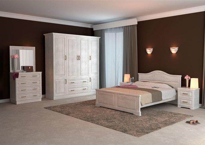Кровать Эдем ясень-дуб сонома 120х200