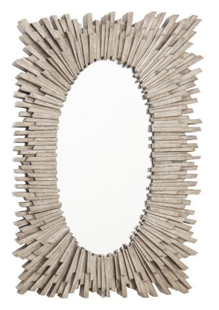 Настенное зеркало Aledo в раме серебряного цвета