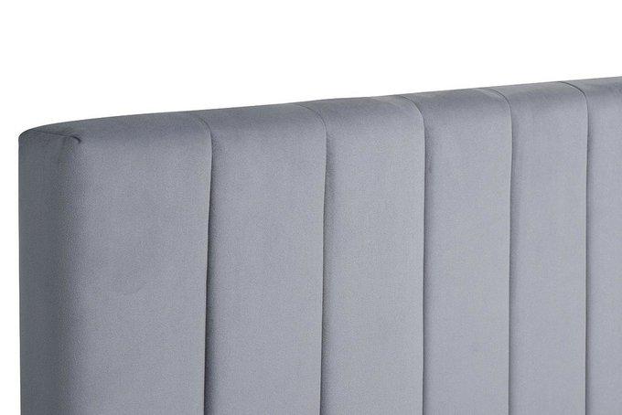 Кровать Andrea серо-голубого цвета без подъемного механизма 160х200