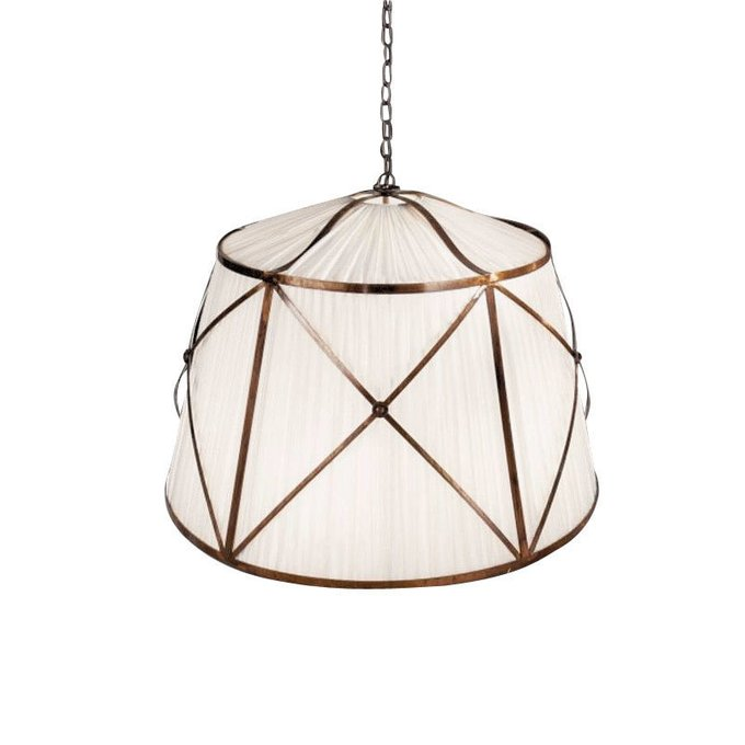 Подвесной светильник Arizzi с абажуром из плиссированной ткани