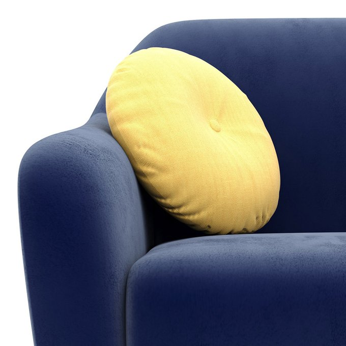 Двухместный диван Miami lux синего цвета