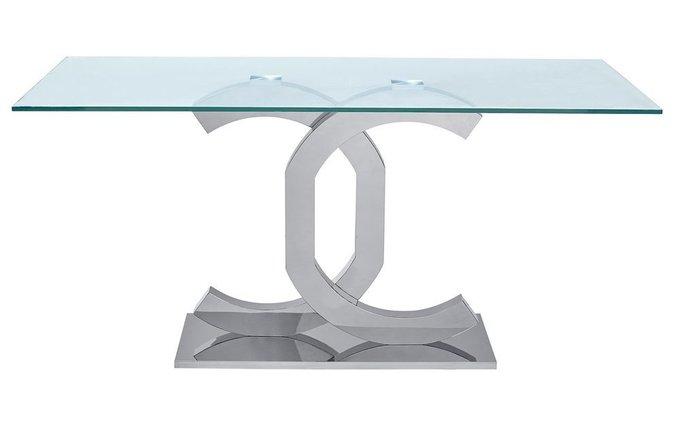 Обеденный стол со стеклянной столешницей NEW