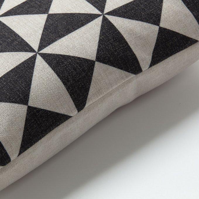 Чехол на подушку Interior черно-белого цвета 45х45