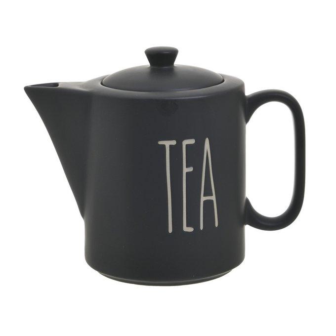 Фарфоровый чайник черного цвета