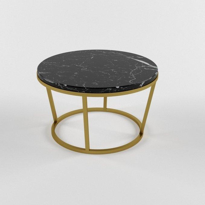 Журнальный столик с мраморной столешницей DILOS gold