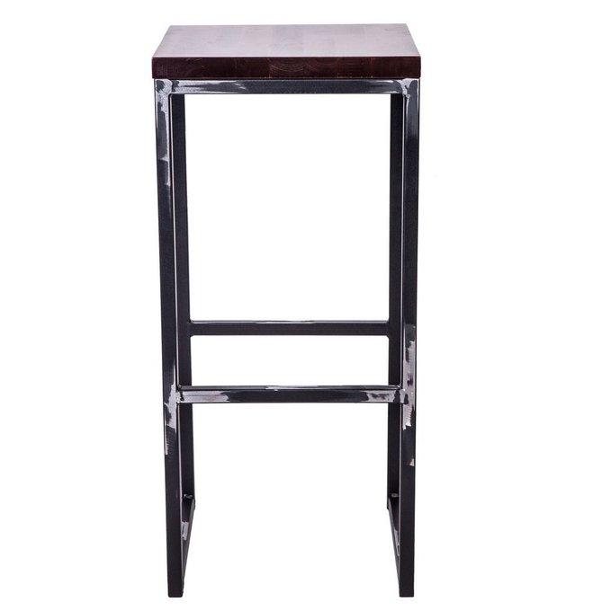 Полубарный стул Симпл с деревянным сидением