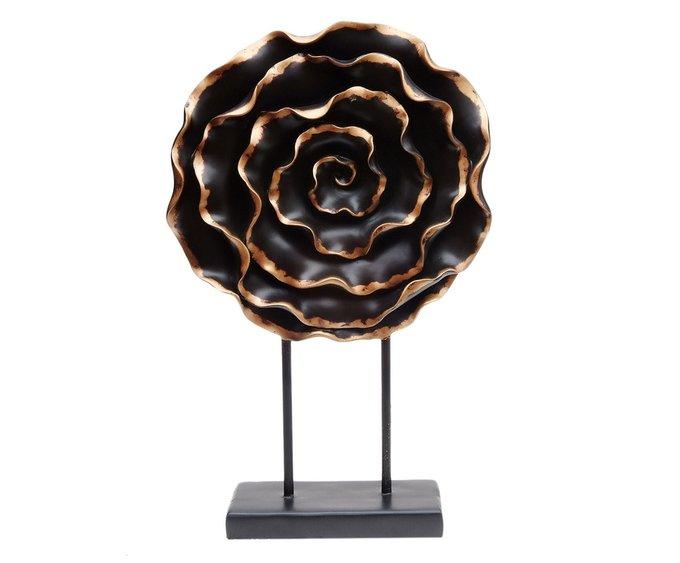 Декоративный элемент Flower черного цвета