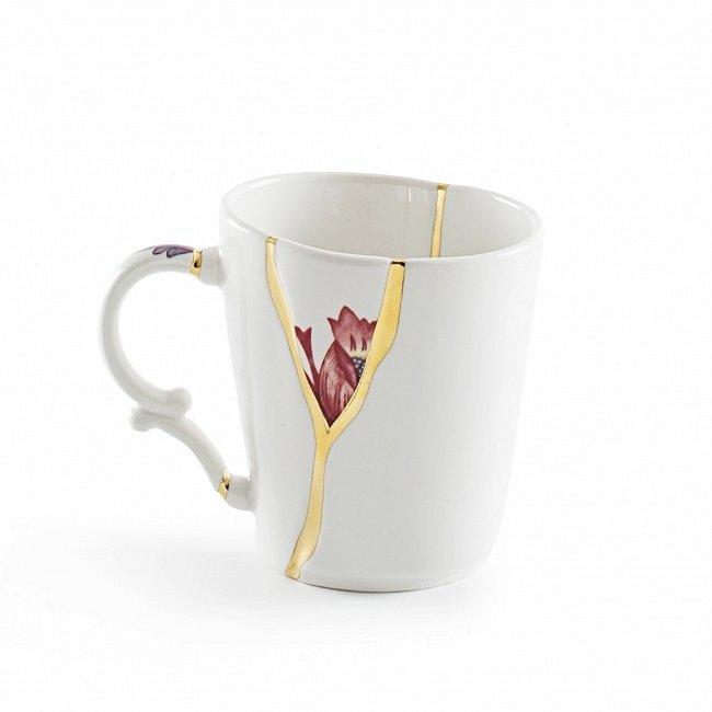 Чашка Kintsugi белого цвета