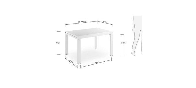 Прямоугольный обеденный стол Julia Grup Oreon белый