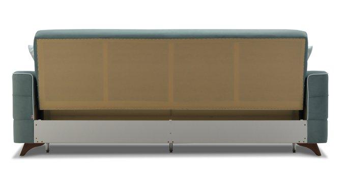 Диван-кровать Сохо серо-голубого цвета