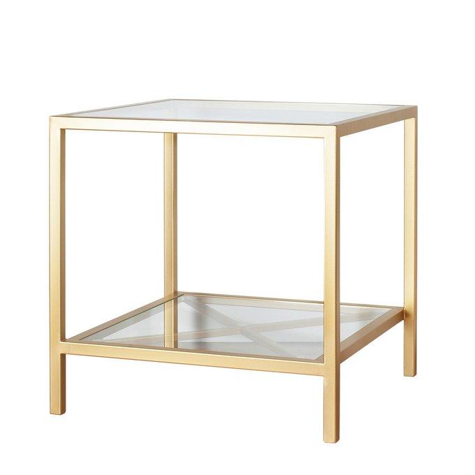 Кофейный столик с двумя стеклянными столешницами