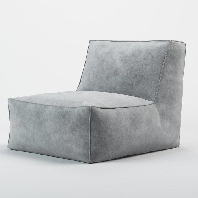 Кресло Quadro Velur серого цвета