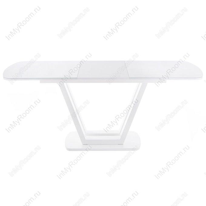 Обеденный раскладной стол Лорент белого цвета
