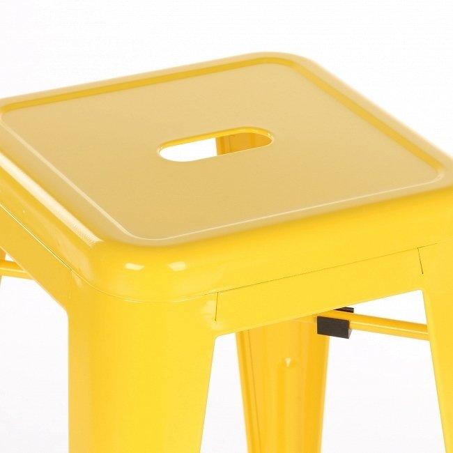 Стул полубарный желтый из стали
