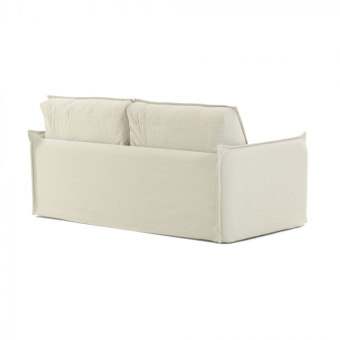 Диван-кровать Samsa с матрасом visco белого цвета