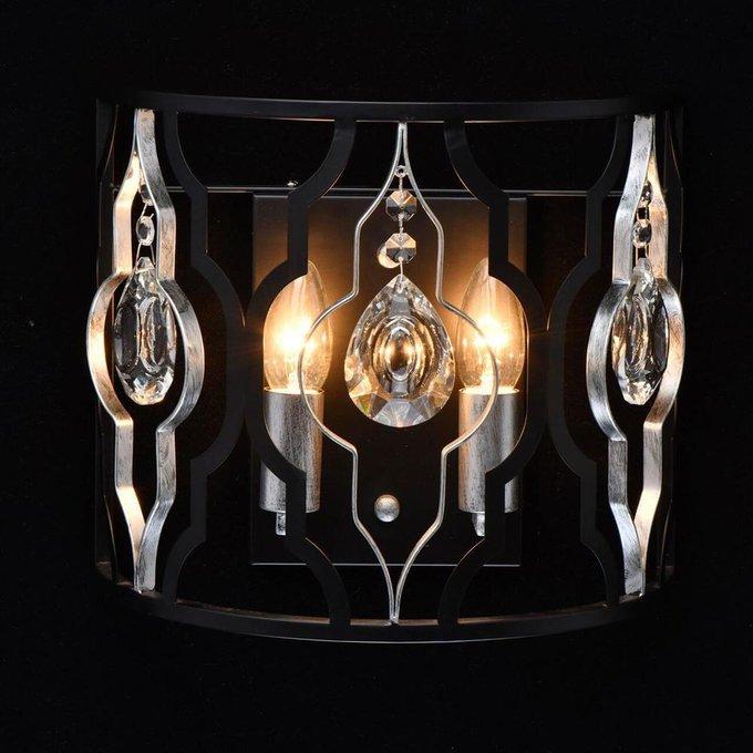Настенный светильник Альгеро черного цвета