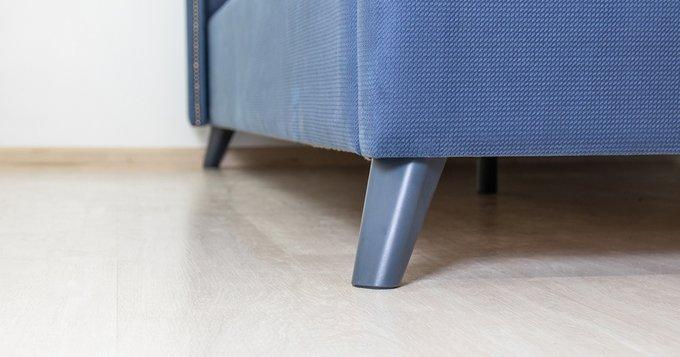 Кровать Мелисса 160х200 без подъемного механизма серо-синего цвета