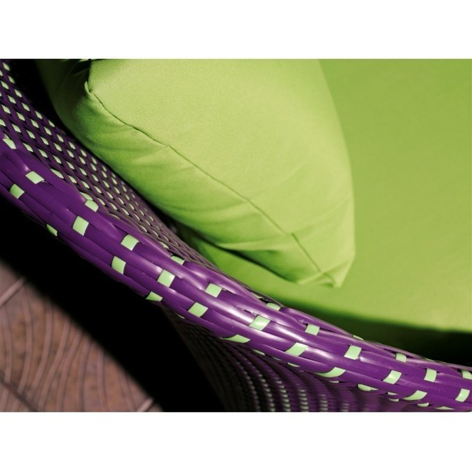 Кресло Ландыши с подушками фисташкового цвета
