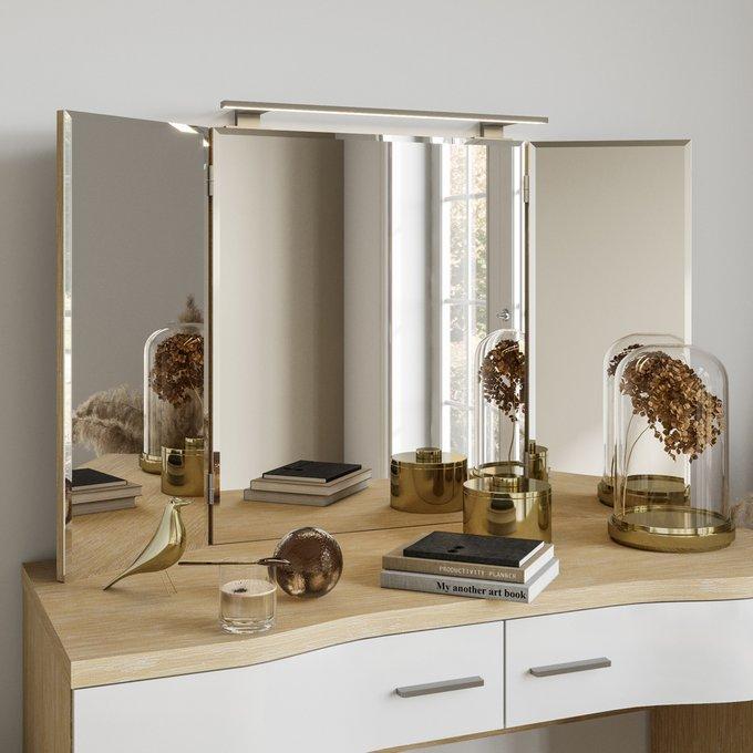 Настенное зеркало-трельяж Элеонора с подсветкой