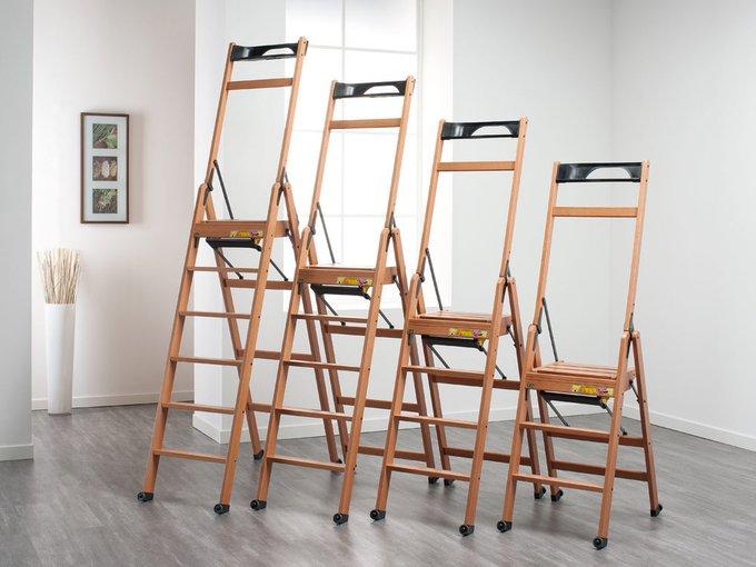 Лестница-стремянка на четыре ступеньки Lascala 4 naturale цвет натуральный