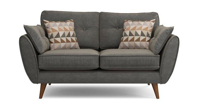 Прямой двухместный диван Элдон темно-серый