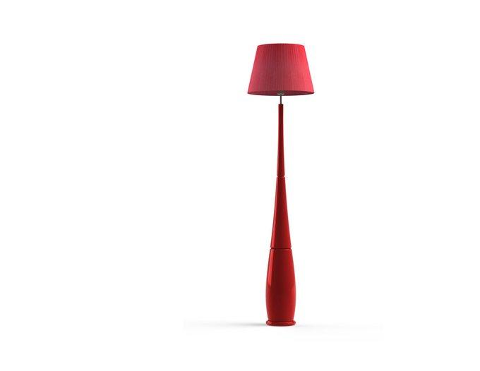 Торшер LEO Red с абажуром из светотехнического ПВХ