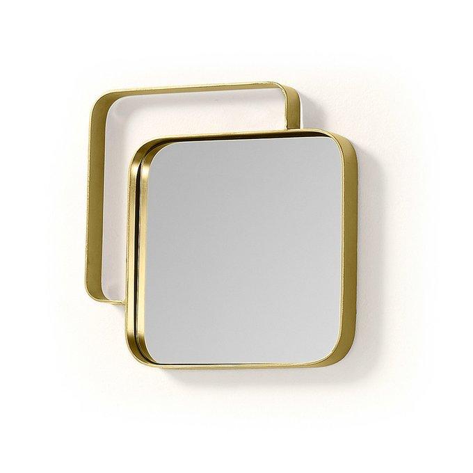 Зеркало Wol в раме латунного цвета