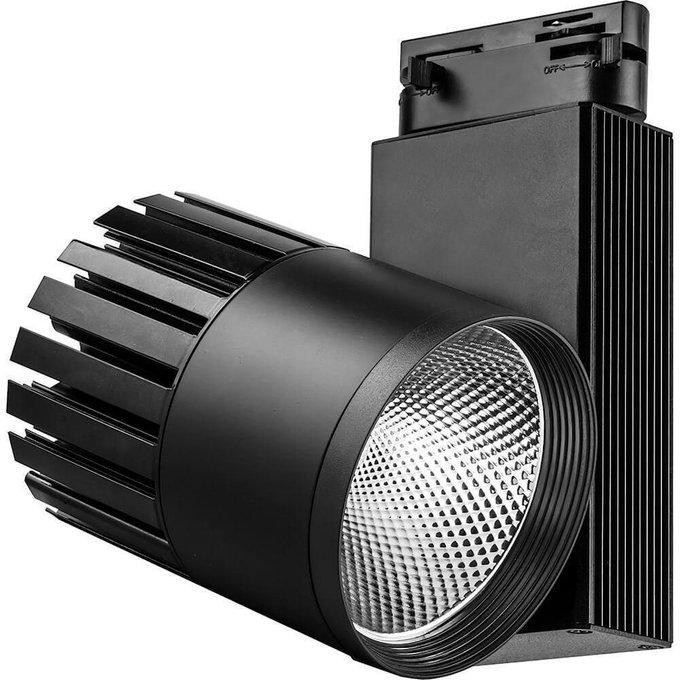 Трековый светодиодный светильник черного цвета