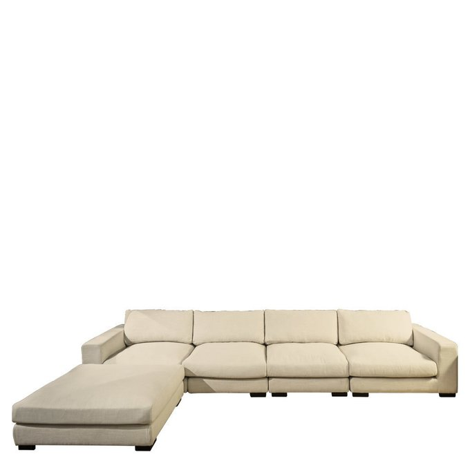 Угловой диван Timothy бежевого цвета