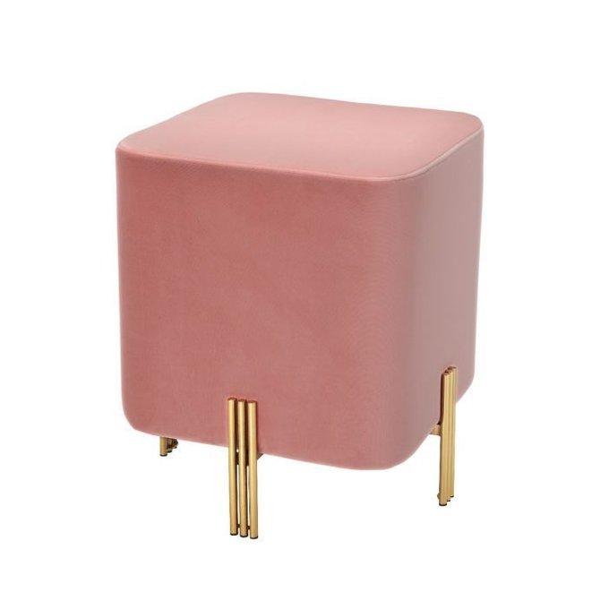 Пуф Burnett розового цвета