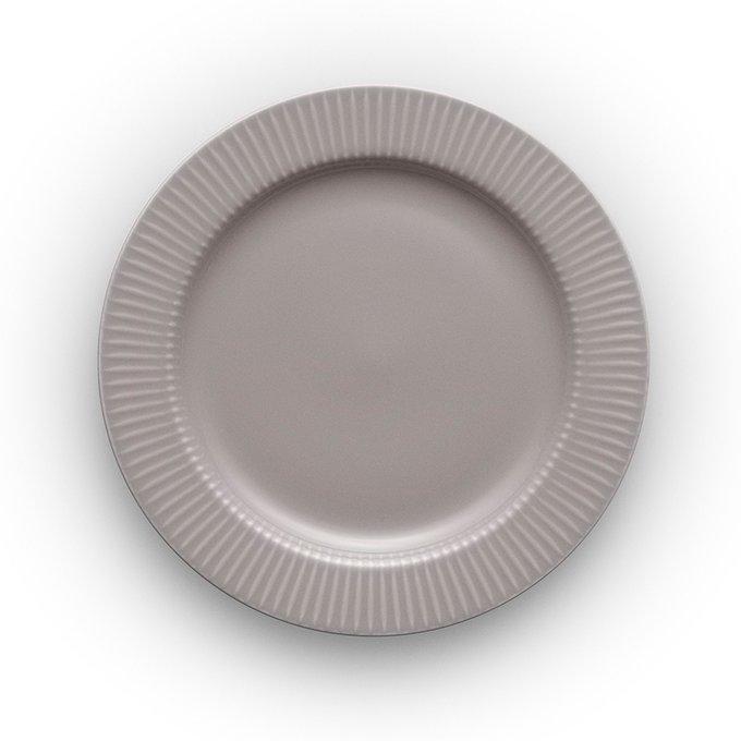 Тарелка круглая legio nova серая