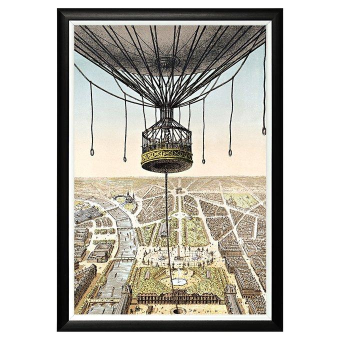 Картина Париж с высоты птичьего полета