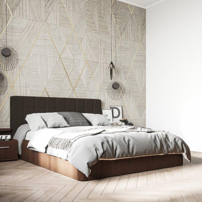 Кровать Магна 160х200 с серым изголовьем и подъемным механизмом