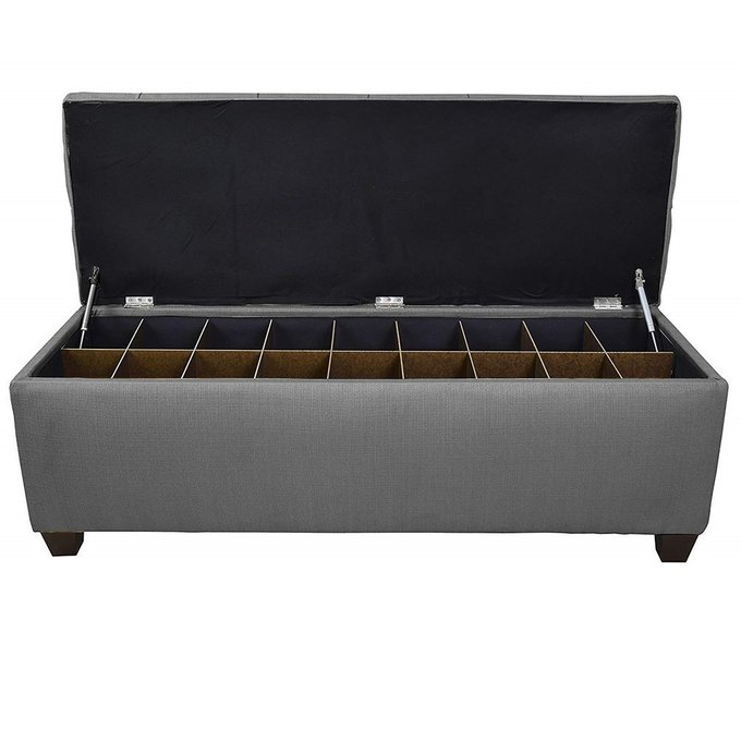 Банкетка-обувница Linon L серого цвета
