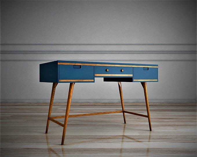 Стол рабочий Travel синего цвета