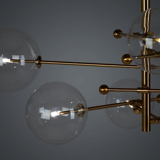 Подвесная люстра Bola с плафонами из стекла