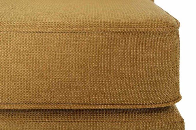 Диван прямой Серена дизайн 4 коричневого цвета