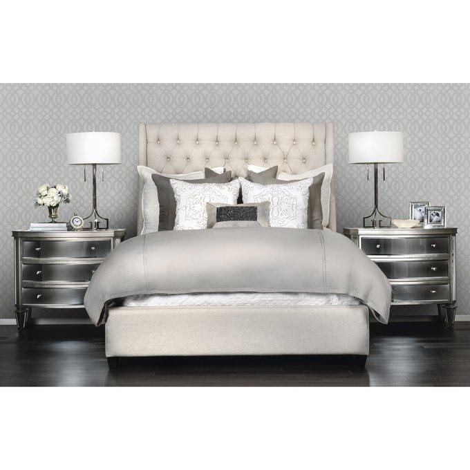 Кровать Ada бежевого цвета 160х200