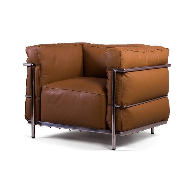 Кресло с кожаной обивкой