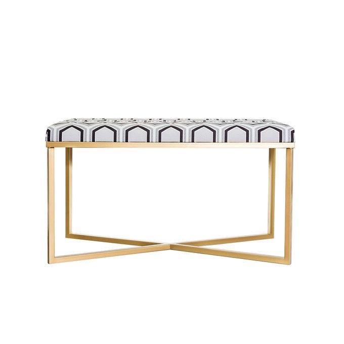 Банкетка с золотым основанием и обивкой Гексагон