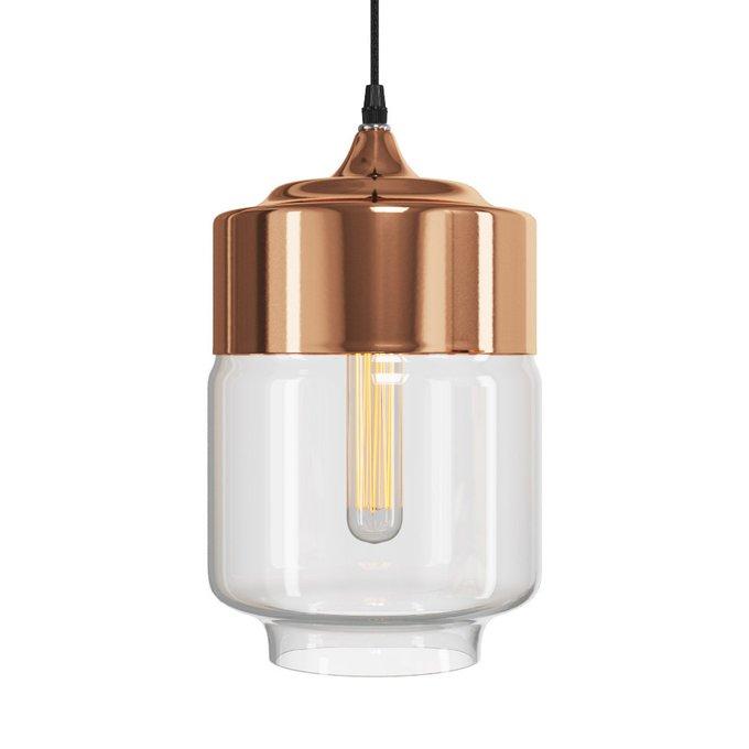 Подвесной светильник Loman из металла и стекла
