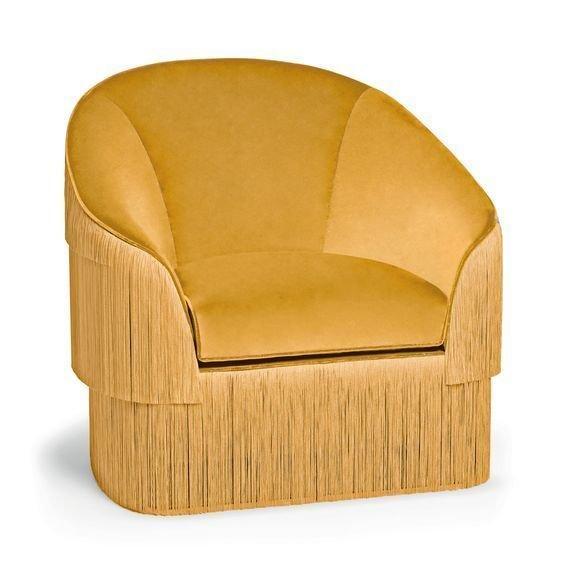Кресло Munna желтого цвета