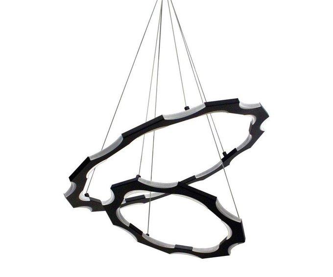 Подвесной светодиодный светильник Тор-Байт черного цвета