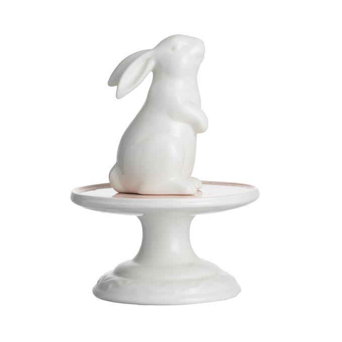 Купол декоративный с кроликом Средний Розовый
