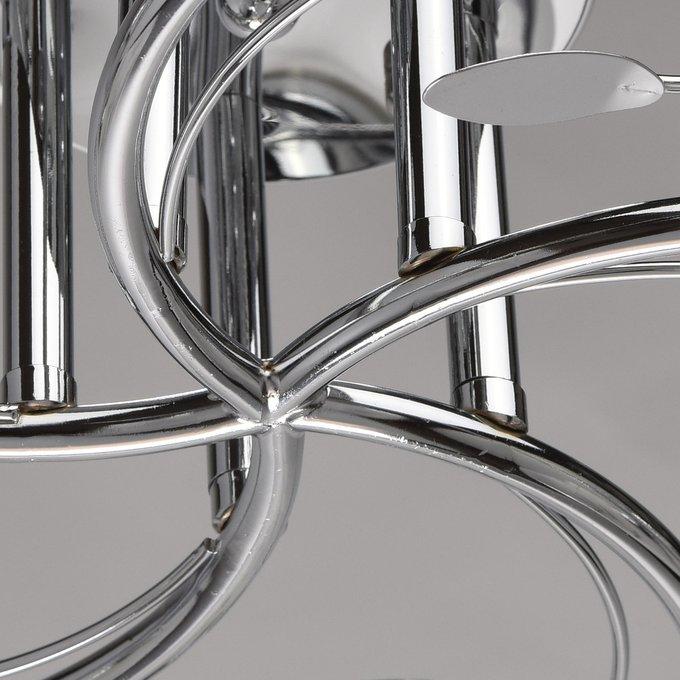 Потолочная люстра Тетро из металла и стекла