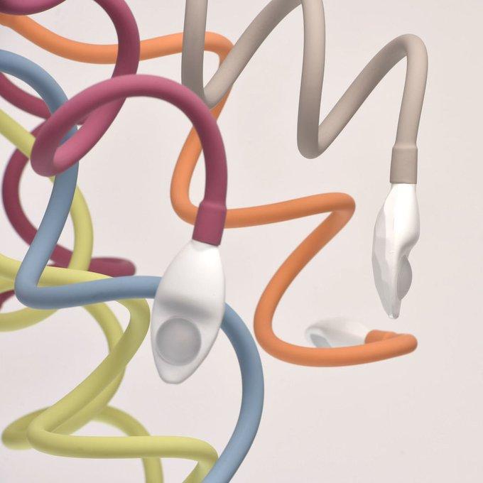 Потолочная светодиодная люстра Зиген разноцветные