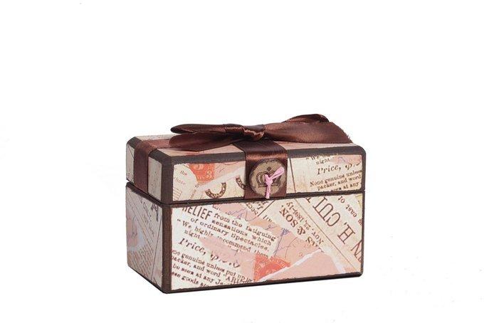 Декоративная коробка с бархатной лентой Paluvras