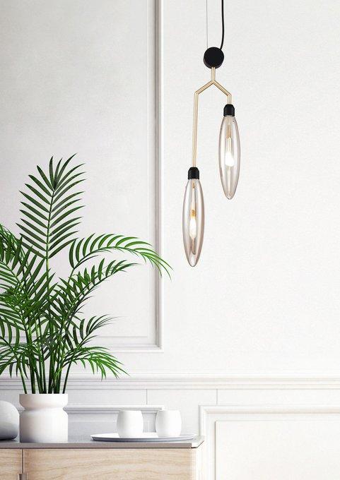 Подвесной светильник Ventura из янтарного стекла